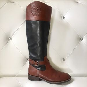 Vince Camuto Flavian Genuine Leather Two-Tone Boot